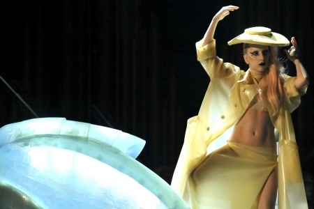 Lady Gaga performs Born this Way at the Grammy Awards
