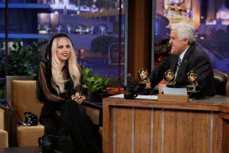 Lady Gaga visits Leno to talk Madonna