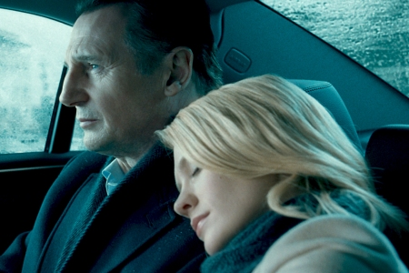 Liam Neeson and January Jones in Unknown