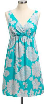 Cross-Front Babydoll Dress