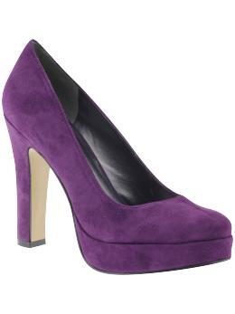 Purple suede heels