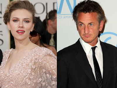 Scarlett Johannson and Sean Penn