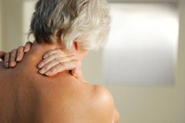 Senior woman with back pain