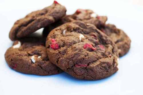 ... with mini chocolate chips cherry vanilla cookies white chocolate chips