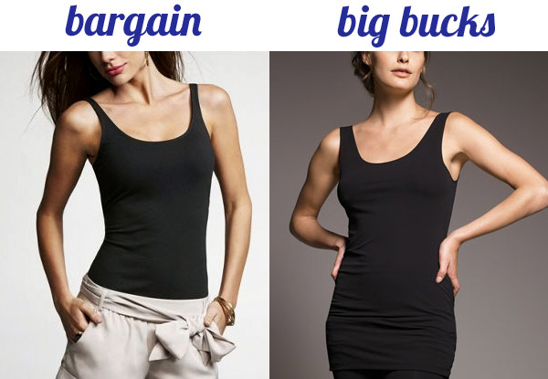 Bargain black tank tops