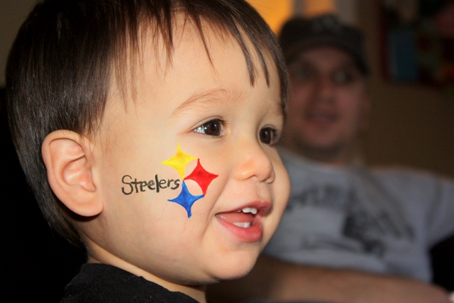 Steelers Face Paint Example