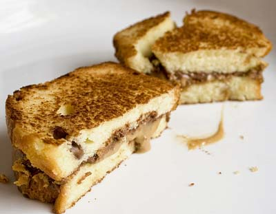 Fried Chocolate and Peanut Butter Sandwich