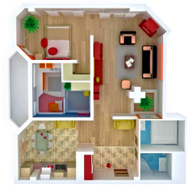 Room plan from above