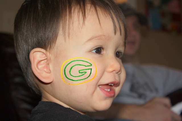 Green Bay Face Paint Example 