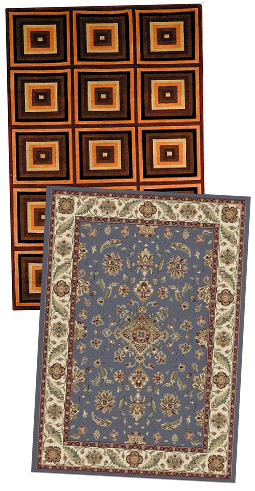Two floor rugs