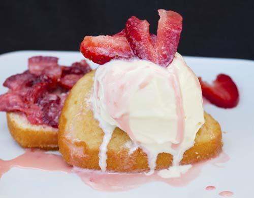 Valentines Day Heart Shaped Strawberry Shortcake