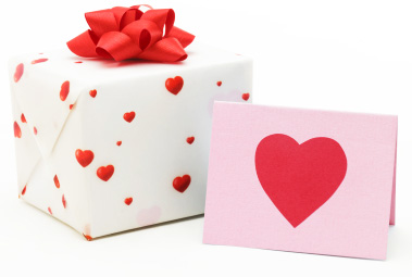 Valentine's Day card and gift
