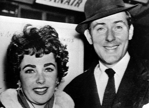 Elizabeth Taylor and husband Michael Wilding