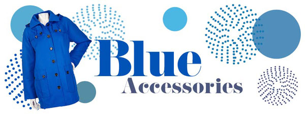 Blue accessories