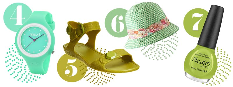 Green accessories for spring