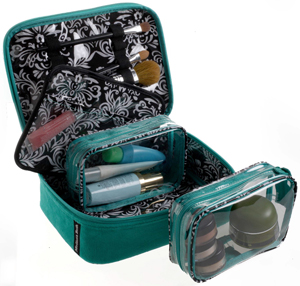 Kiss and Makeup Cosmetic Case from Melissa Beth Designs