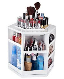 Tabletop Spinning Cosmetic Organizer from Lori Greiner