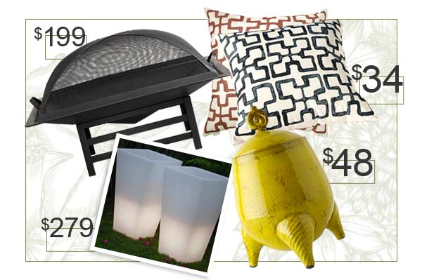 Spring patio accessories