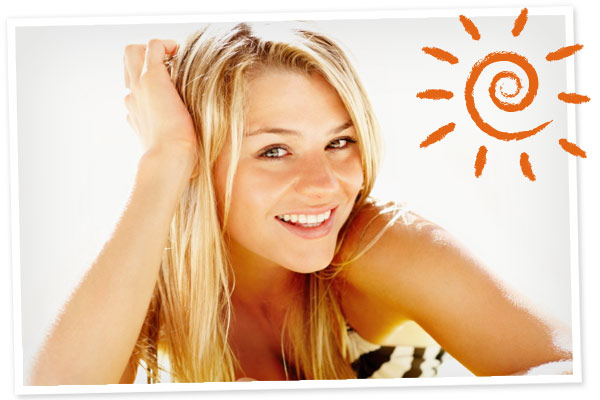 Summer beauty Natural highlights