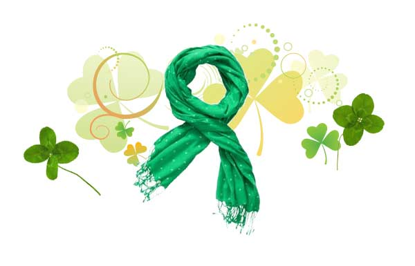 Green accessories for St. Patty's Day