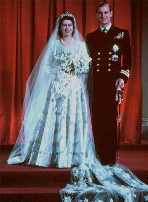 Queen Elizabeth II's royal wedding dress