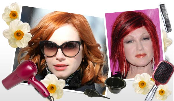 Celebrities with bright vibrant hair color