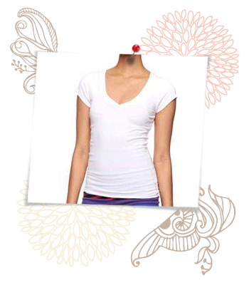White V-neck from Forever 21, $3.50