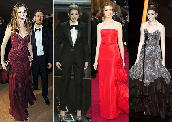 Anne Hathaway in 2011 Oscar gowns