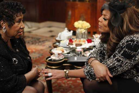 Aretha Franklin and Wendy Williams