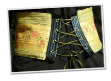 Corset-style belts