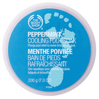 Body Shop peppermint cooling foot soak