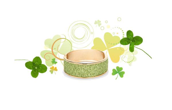 green betsey johnson bracelet