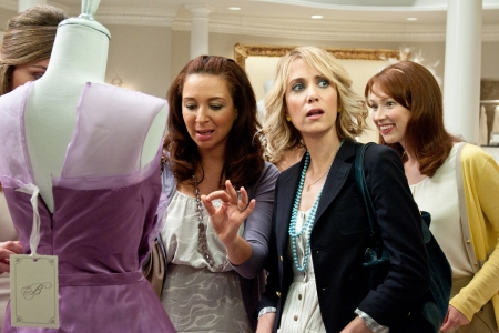 Maya Rudolph, Kristen Wiig and Ellie Kemper in Bridesmaids