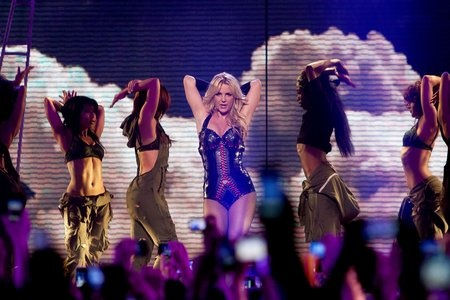 Britney Spears performs at GMA