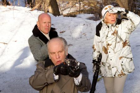 Bruce Willis, Helen Mirren and John Malkovich in Red