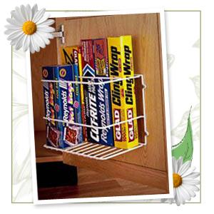 Cabinet door rack
