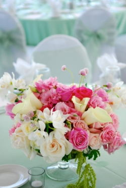Cheap wedding flowers centerpiece
