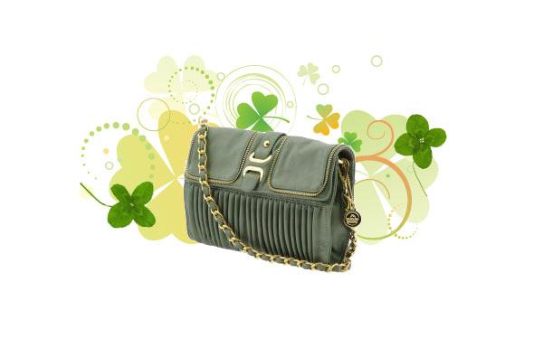 green big buddah purse