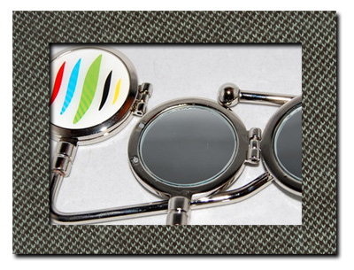 Combo compact mirror and purse hook