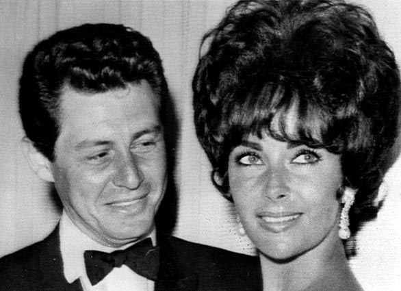 Elizabeth Taylor and husband Eddie Fisher