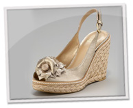 Floral espadrille slingbacks