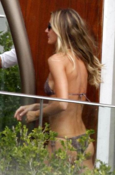 Gisele Bndchen presumi cuerpazo en bikini FOTOS