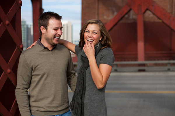 Happy couple laughing