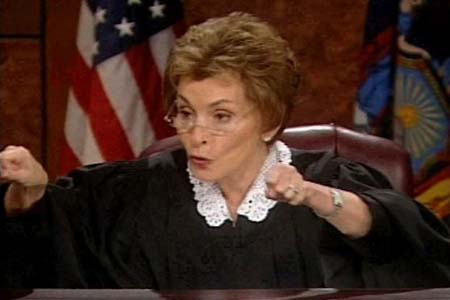 Judge Judy relaxing after hospital scare