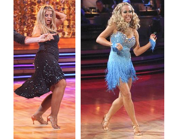 Kendra Wilkinson and Kirstie Alley on Dancing With The Stars, Season 12