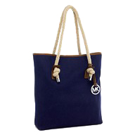 Nautical style: white belt: navy tote