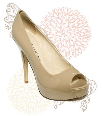 Nude peep toe pumps, $59 at Macy's
