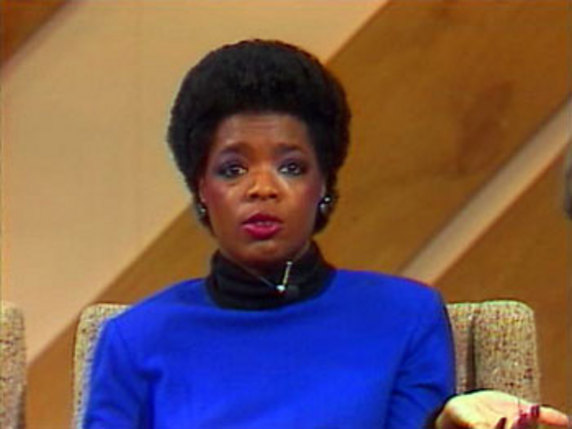 Oprah's hairstyle in the '80s