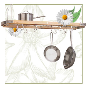 Maple Oval Ceiling Pot Rack