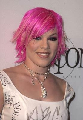 Pink's celebrity pink hairstyle